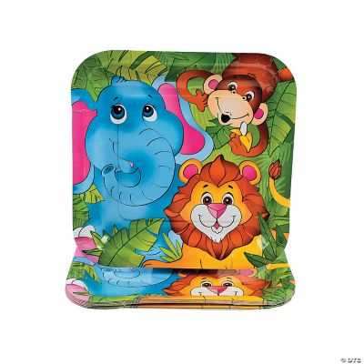 8 Zoo Animal Dinner Plates