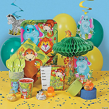 Zoo Animal Deluxe Party Pack