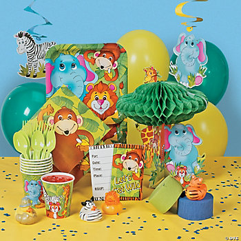 Zoo Animal Deluxe Party Pack Oriental Trading