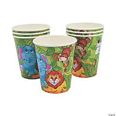 8 Zoo Animal Cups