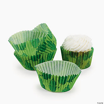 Leaf Print Baking Cups