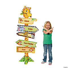 Zoo Animal Directional Sign