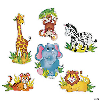 6 Zoo Animal Cutouts