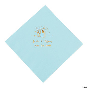 Champagne Luncheon Napkins - Light Blue