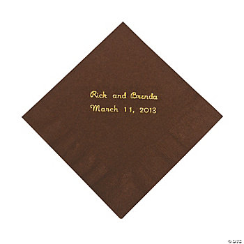 Personalized Chocolate Beverage Napkins
