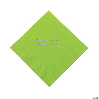 Personalized Luncheon Napkins - Lime Green