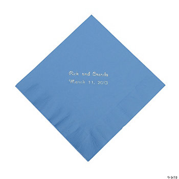 Personalized Periwinkle Luncheon Napkins