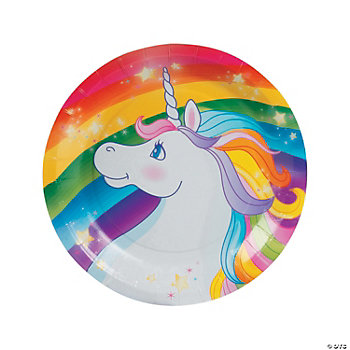 Rainbow Unicorn Dessert Plates