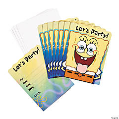 8 SpongeBob Squarepants™ Classic Invitations