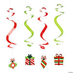 Bright Christmas Dangling Swirls