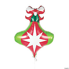 Ornament-Shaped Mylar Balloon