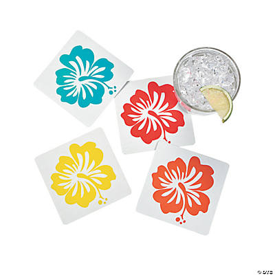 Hibiscus Wave Coasters