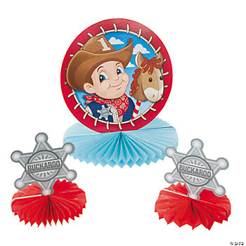 1st Birthday Cowboy Centerpiece Set