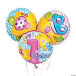 """1st Birthday"" Girl Mylar Balloons"