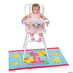 Girl's First Birthday High Chair Set