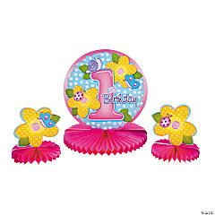 """1st Birthday"" Girlie Centerpiece Set"