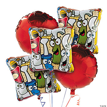 5 Pc. Tool Party Mylar Balloon Set