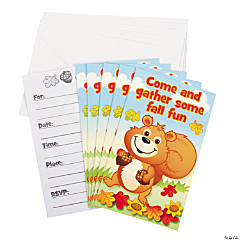 Fall Critters Invitations