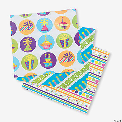 Birthday Celebration Wrapping Paper Sheets
