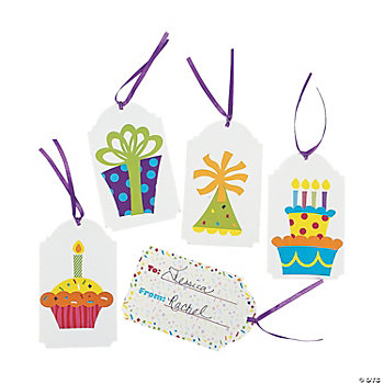 "Birthday Celebration ""To/From"" Gift Tags"