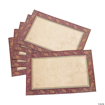 Thanksgiving Turkey Place Mats