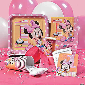 Minnie's 1st Birthday Basic Party Pack