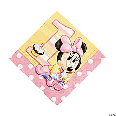 Minnie's 1st Birthday Luncheon Napkins