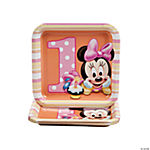 Minnie's 1st Birthday Square Dessert Plates