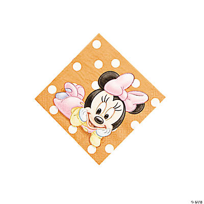 Minnie's 1st Birthday Beverage Napkins