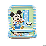 Mickey's 1st Birthday Square Dessert Plates