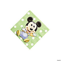 Mickey's 1st Birthday Beverage Napkins