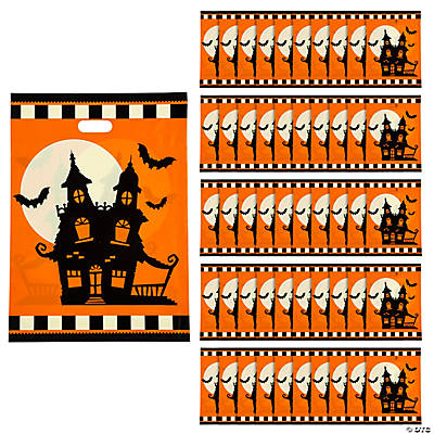 Halloween Silhouette Plastic Trick or Treat Bags