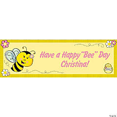 Personalized Bee Party Banners - Small