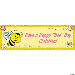 Personalized Bee Party Banners - Medium