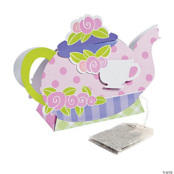 8 Tea Party Die Cut Treat Boxes