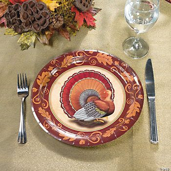 Thanksgiving Turkey Banquet Plates