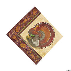 Thanksgiving Turkey Luncheon Napkins