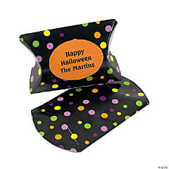 Personalized Mini Halloween Cocktail Pillow Boxes