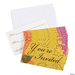 Autumn Leaves Invitations