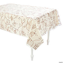 Clear Autumn Leaves Table Cover