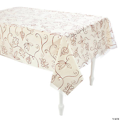 Clear Autumn Leaves Tablecloth