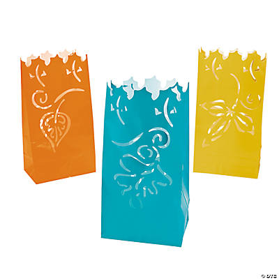 Autumn Leaves Luminary Bags
