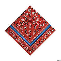 Paper Red Bandana Luncheon Napkins
