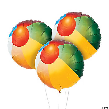 Beach Ball Mylar Balloons