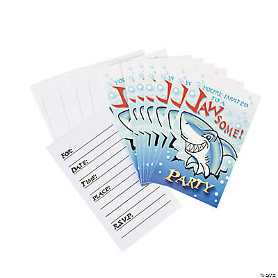 """Jawsome"" Shark Invitations"