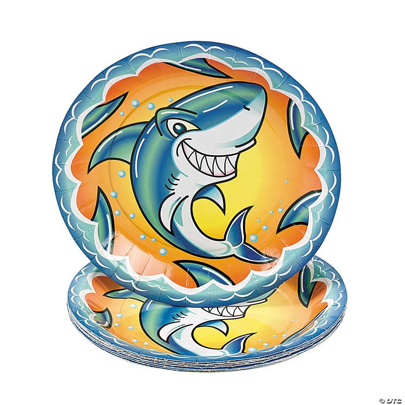sc 1 st  Oriental Trading & Jawsome Shark Paper Dessert Plates
