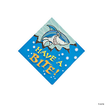 Jawsome Shark Beverage Napkins