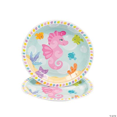 Under the Sea Girl Dessert Plates