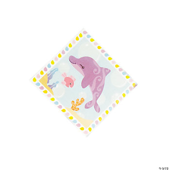 Under The Sea Girl Beverage Napkins