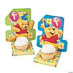 6 Pooh's 1st Birthday Cupcake Holders